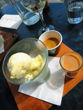 Affogato with Baileys - Cerberus Beach House